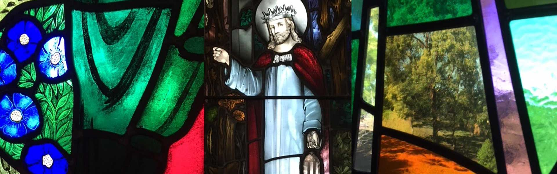Jesus as King Stained Glass