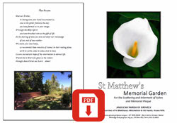 Memorial Garden Brochure Download